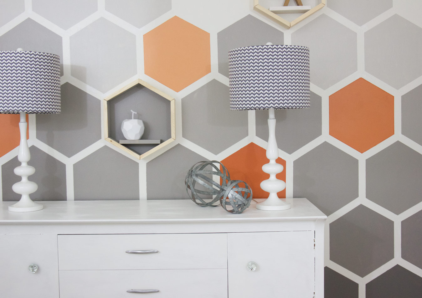 Honeycomb Wall Diy Paint Project