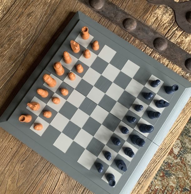 diy painted chess set image
