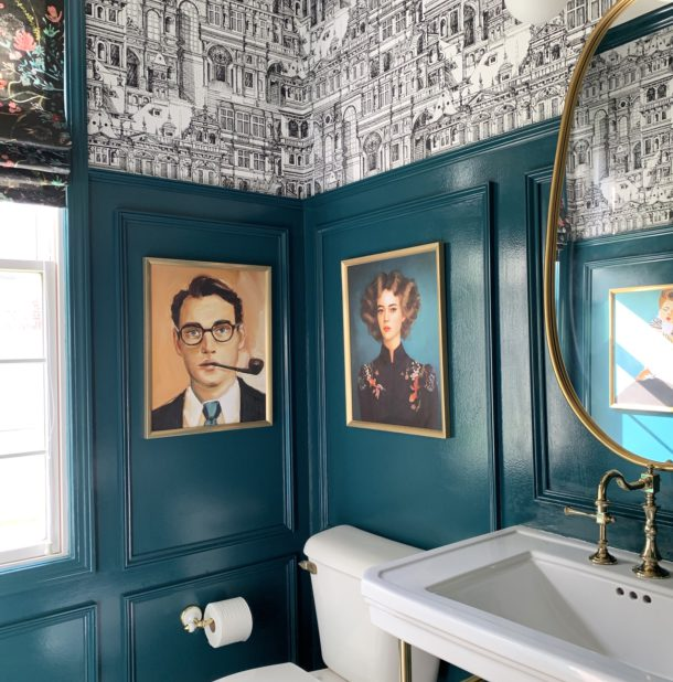 dramatic bathroom makeover image