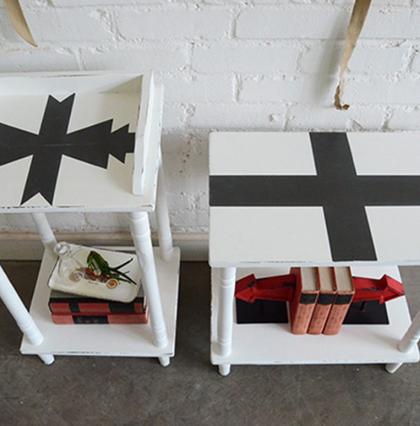 Black and White End Tables