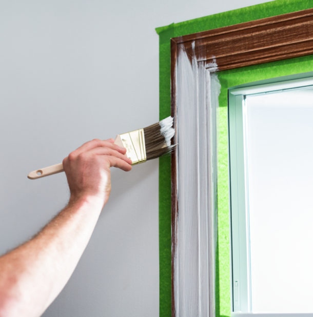 paint trim for a modern update image