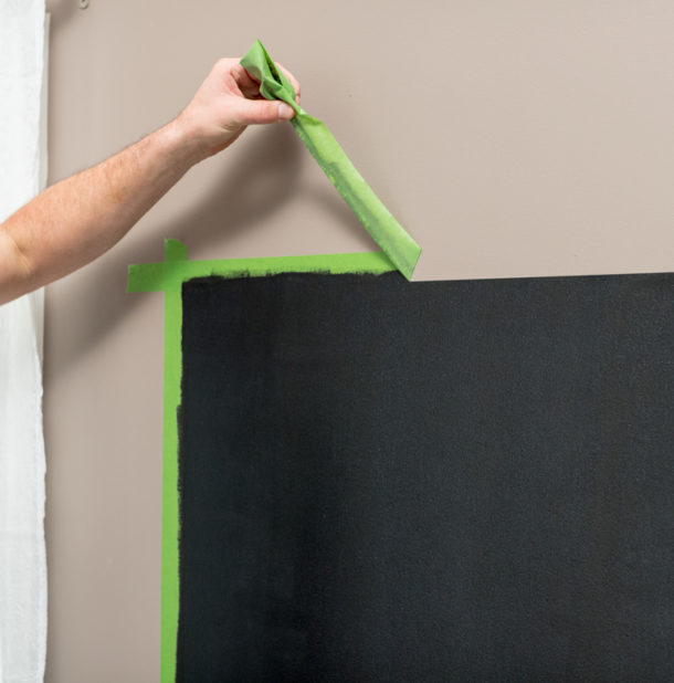 using chalkboard paint around the house image