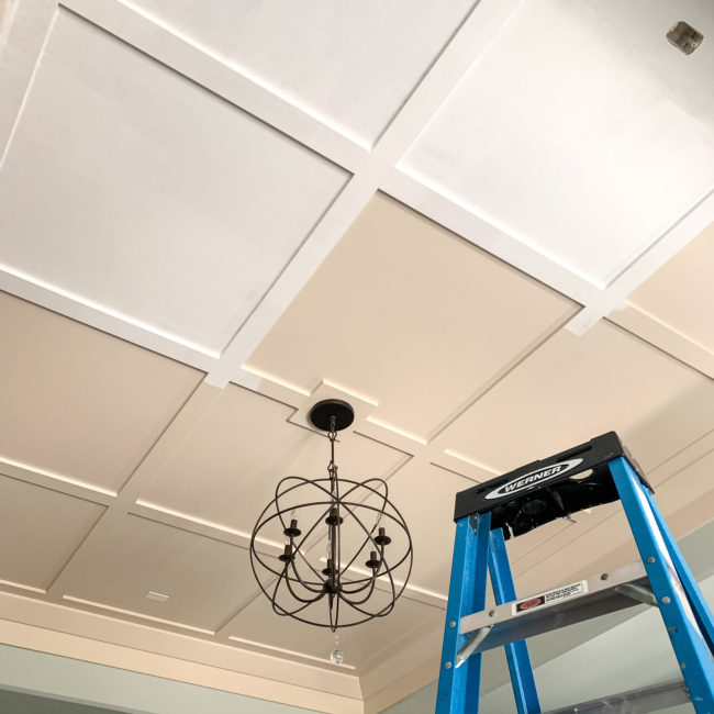 Painted Ceiling Progress